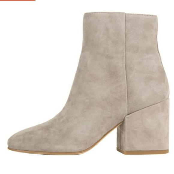 25d5fe79a64a3e Sam Edelman Taye Grey leather block heel booties. M 5b82f1476197454e388d954c